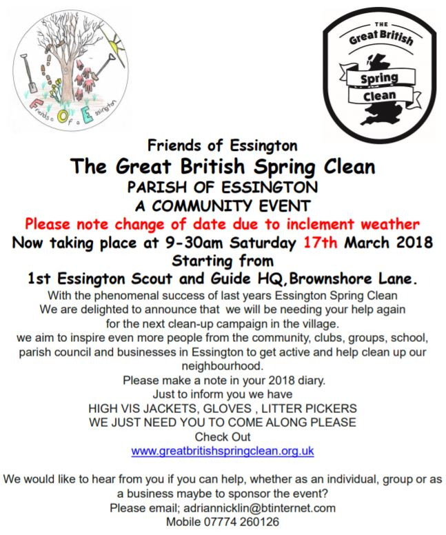 The Great British Spring Clean 2018  ~Re-scheduled~